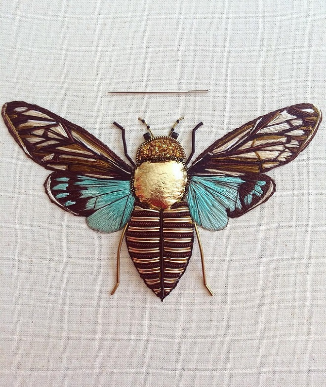 Insect Embroideries By Humayrah Poppins Artisticmoods Com