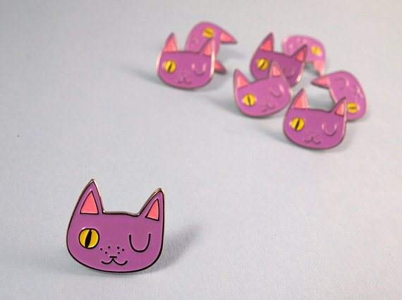 Cat pin / I Like Cats Shop