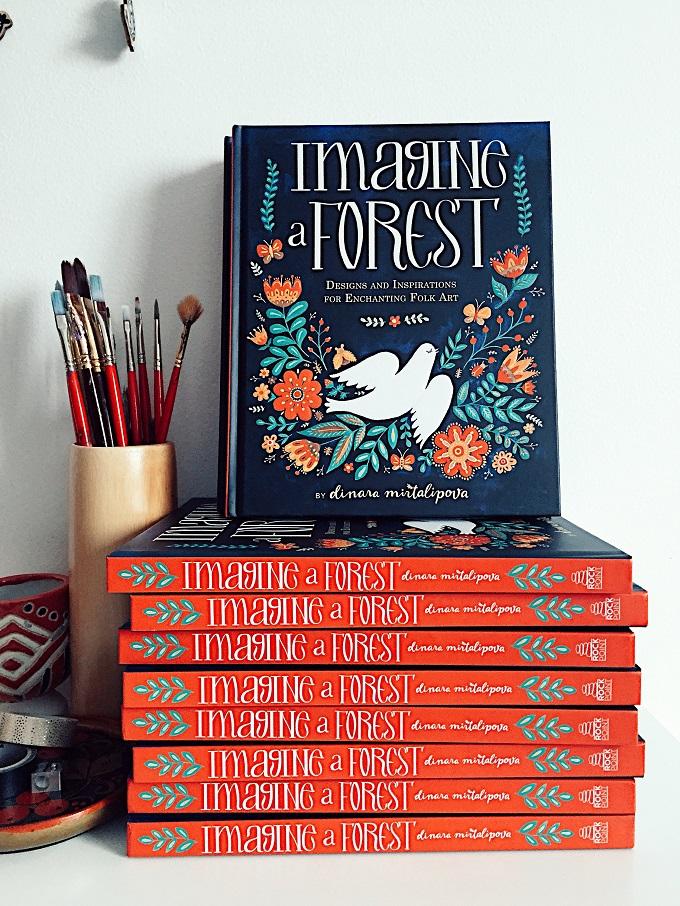 Imagine A Forest Folk Art Inspiration Book - Dinara Miralipova