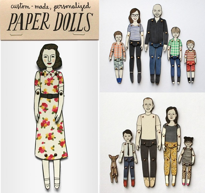 Custom paper dolls by Jordan Grace Owens