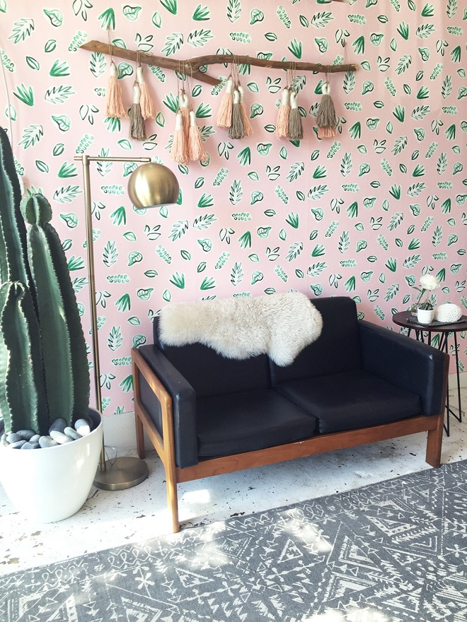 Plants on Pink Wallpaper / Kate Zaremba