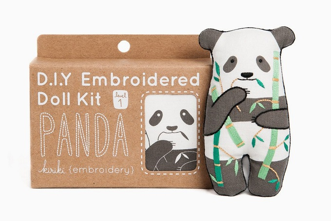 Panda Embroidery Kit / Kiriki Press