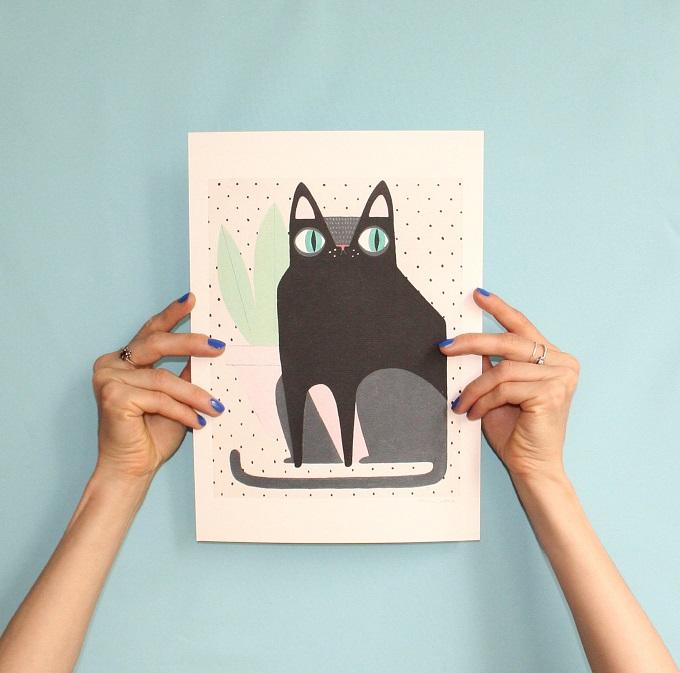 Kitty Art Print - La Nonette