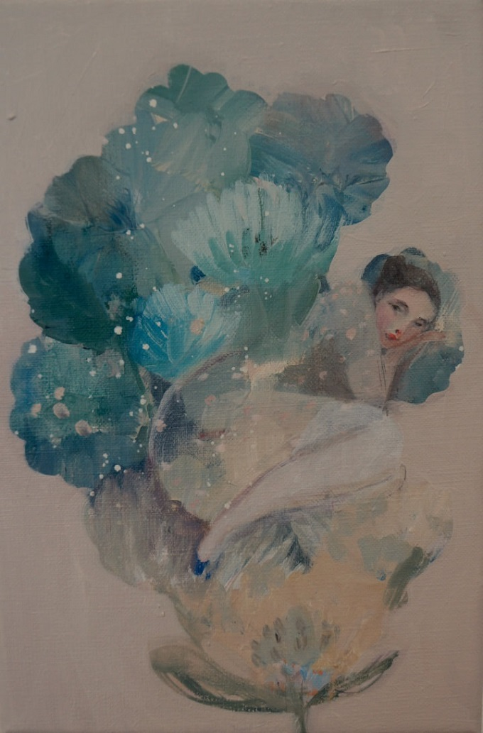 Painting by Kristin Vestgård
