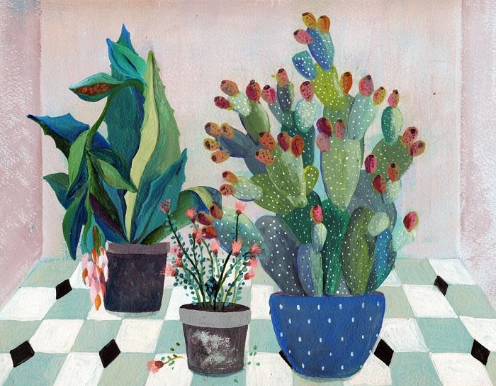 Cactus Art Print / Laura Garcia Serventi