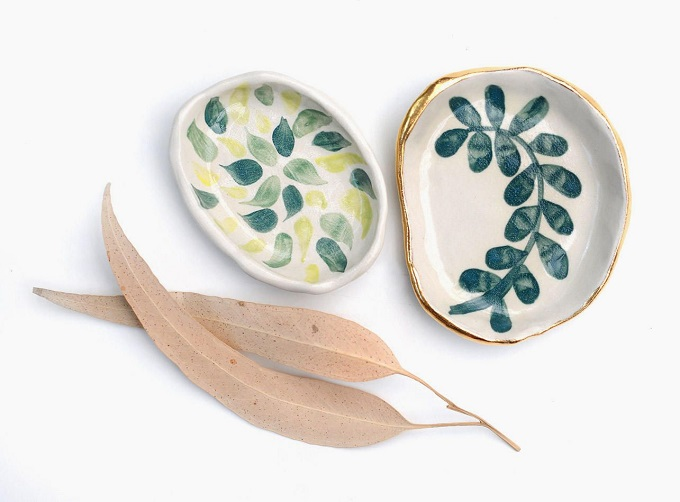 Leaf Ring Dish Set - Liquorice Moon Studios
