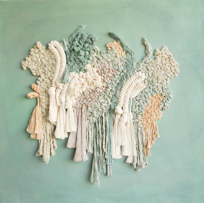 Textile art by Living Fibers