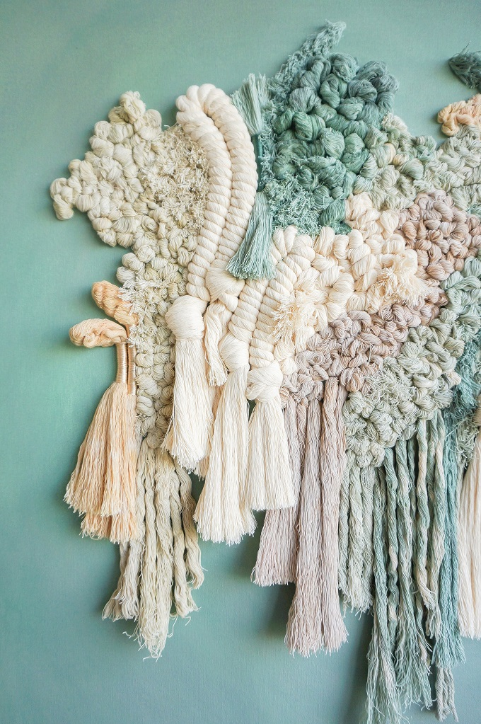 Textile art by Living Fibers