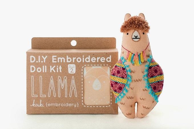 Llama Embroidery Kit - Kiriki Press
