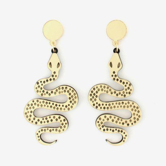 Snake Earrings / Lou Taylor Studio