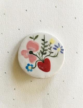 Love Ceramic Brooch - Maheswari Janarthanan