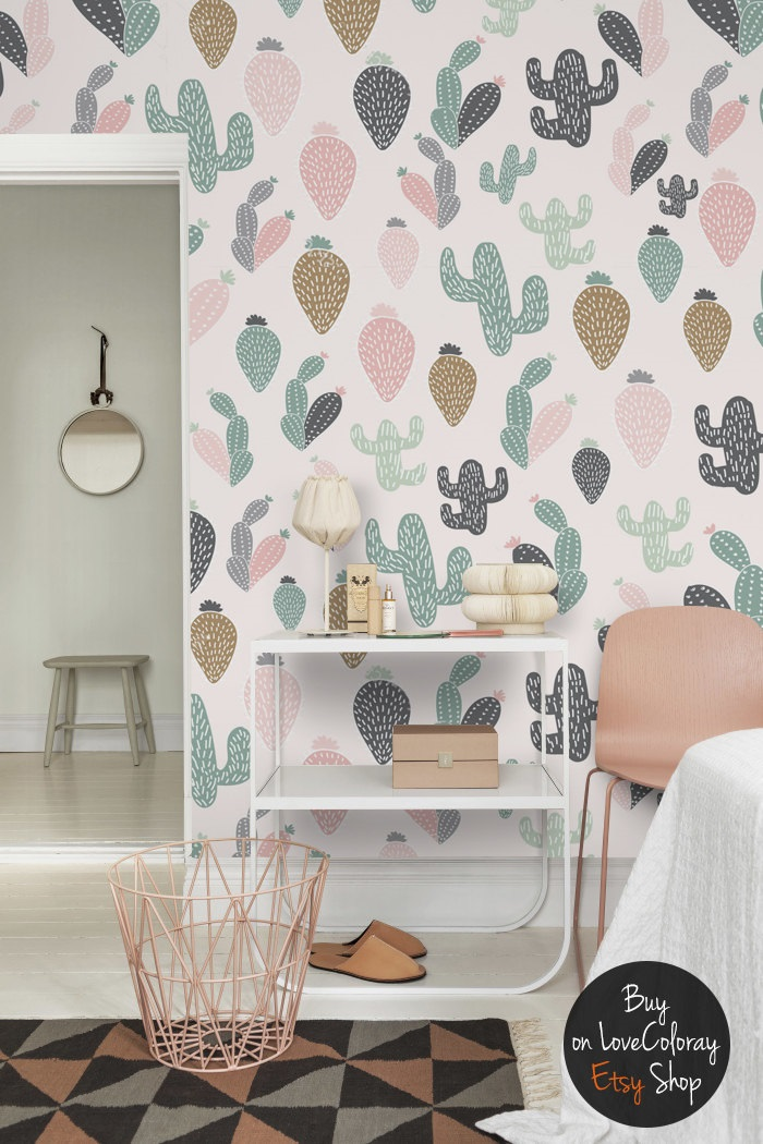 Pastel Cactus Wallpaper / Love Coloray