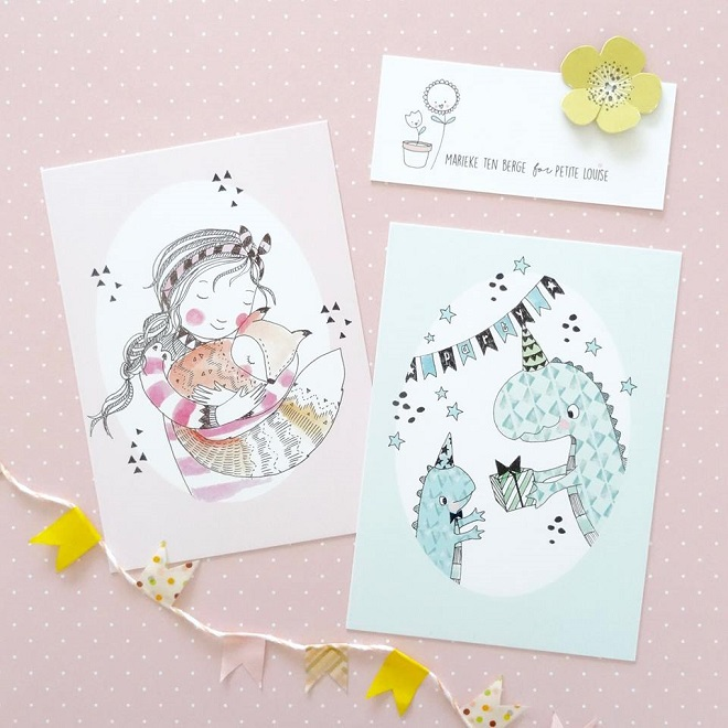 Postcards by Marieke ten Berge