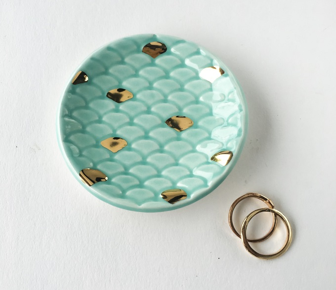 Mermaid Tail Ring Dish - Modern Mud