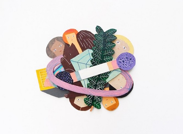 Papercut collage / Miju Lee