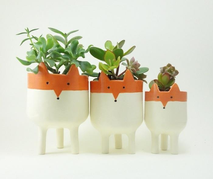 Fox Planters / Minky Moo