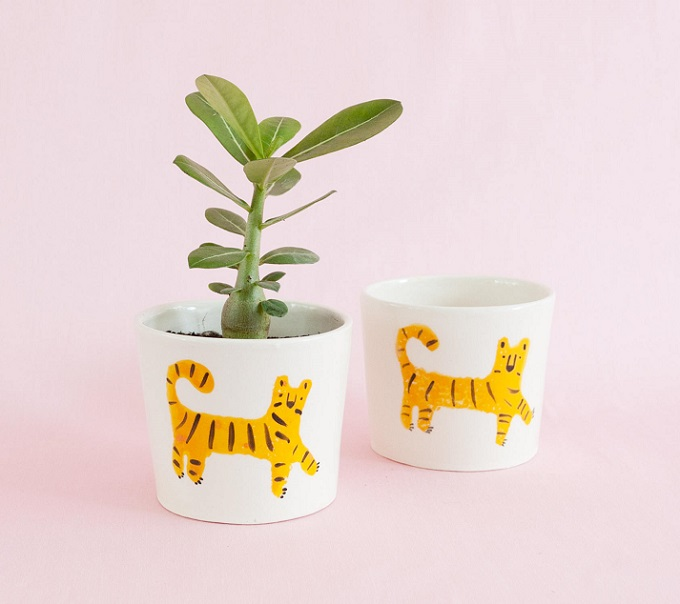 Nimerah Tiger Pots - Things By Bea