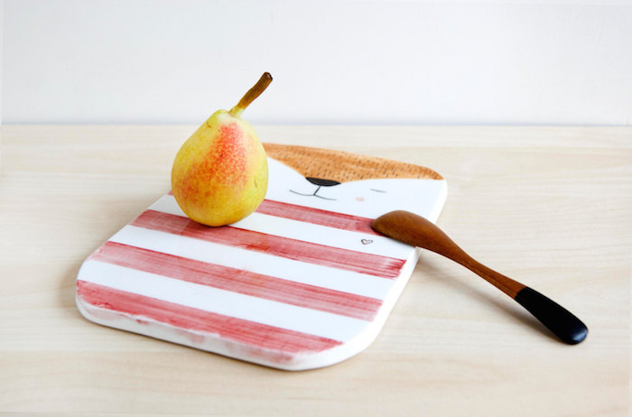 Ceramic serving board by Noe Marin