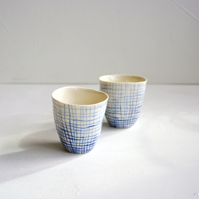 Organic Porcelain Cups - Creative Clay Collective