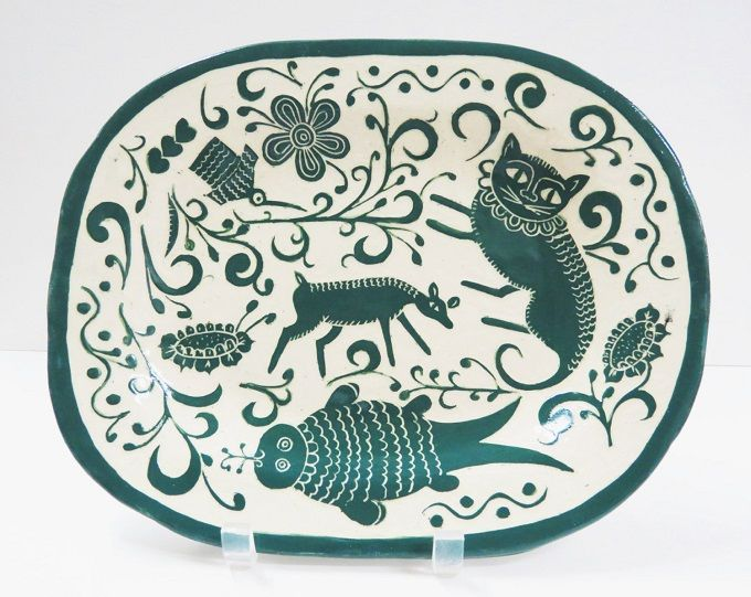 Oval Handmade Platter - The Clay Bungalow