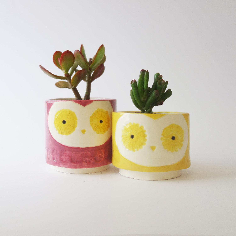Owl Planters / Minky Moo Ceramics