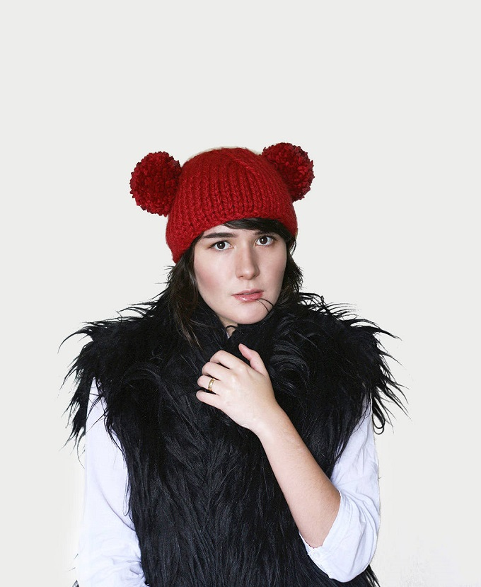 Pom Pom Bear Ear Beanie - Katty's Handcrafts