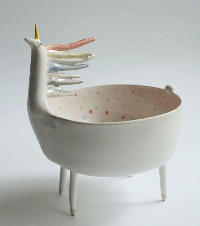 Sequin the Unicorn Bowl - CO Ceramics
