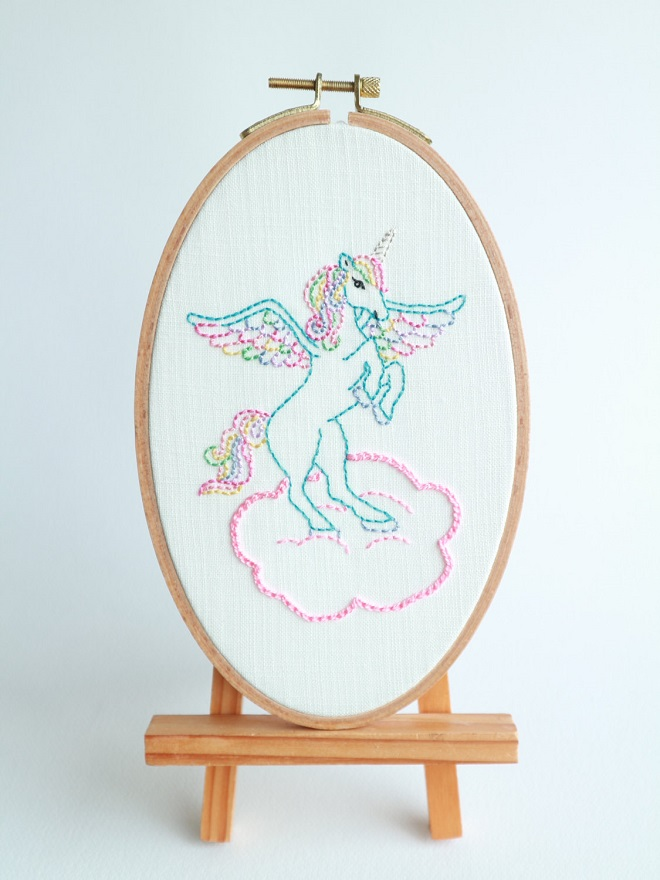 Unicorn Embroidery / Shabby Sugarplum