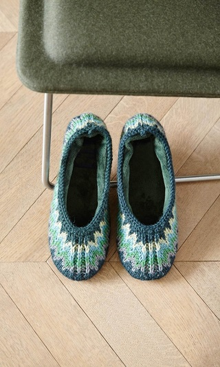 Appledore Slippers / Plumo