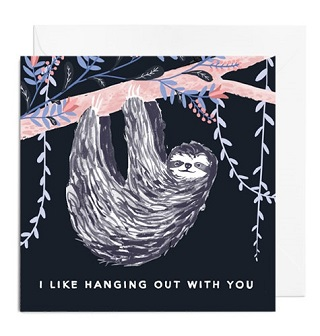Sloth Card - Papiro Press