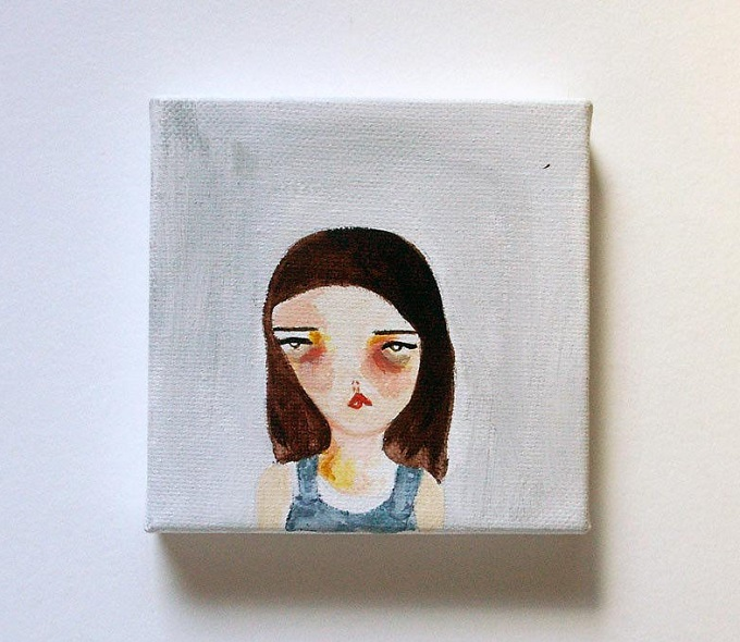 Small Painting - Pretty Little Thieves