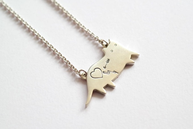 Sterling Silver Cat Necklace - I Like Cats Shop