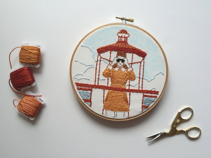 Suzy Bishop in Moonrise Kingdom Embroidery - Thread Honey