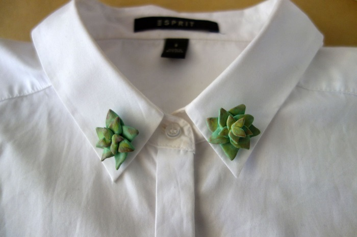 Cactus Collar Pins / The Curious Cactus