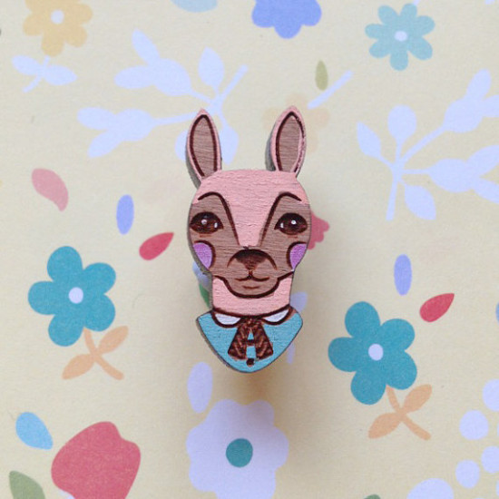 The storybook rabbit Brooch3