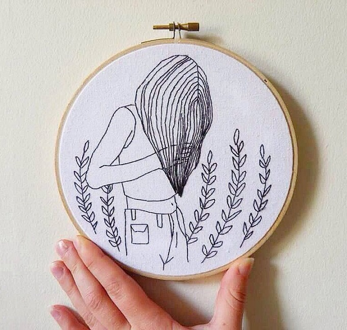 Then she Wanders Embroidery - Chloe Jo