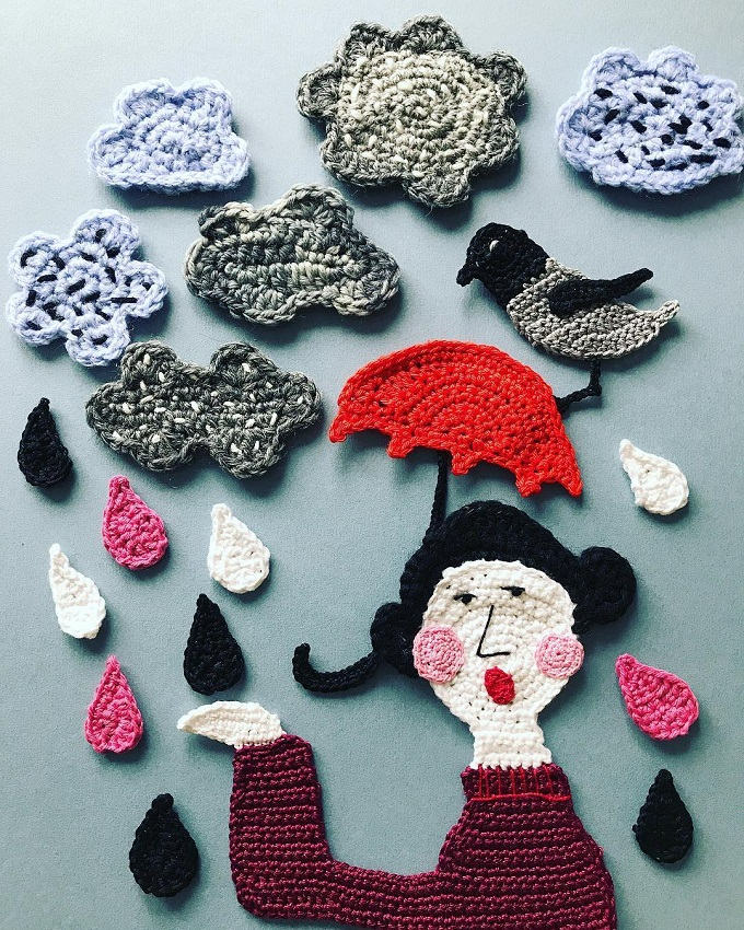Crochet Illustrations by Tuija Heikkinen