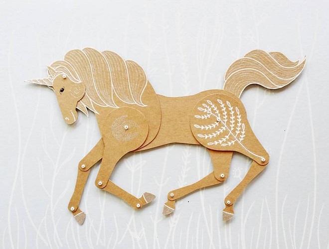 Unicorn Paper Doll / Maria Dubrovskaya