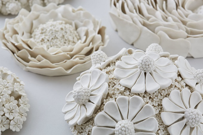 Porcelain Wallflowers By Vanessa Hogge Artisticmoods Com