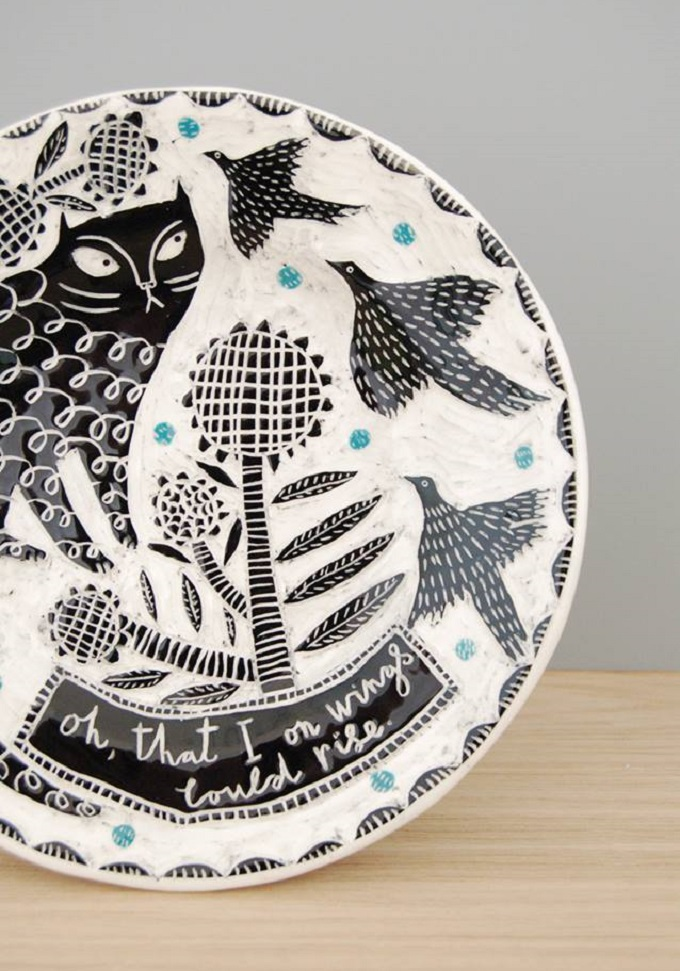 Gorgeous Illustrated Ceramics By Vicky Lindo