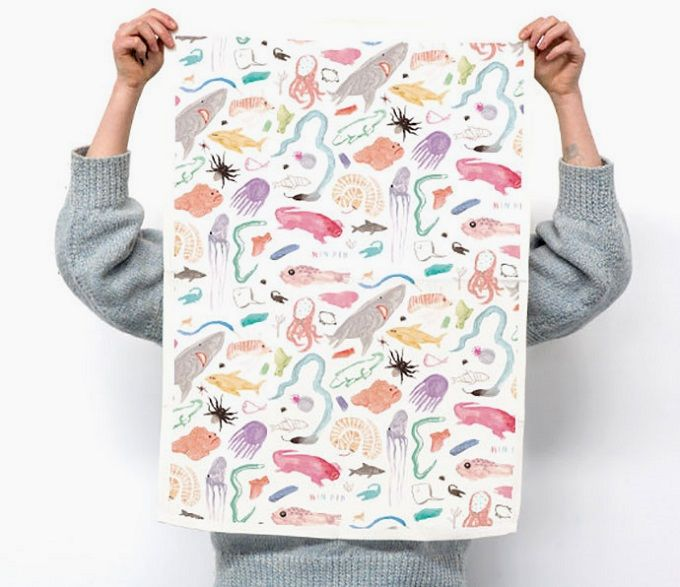 Wild Tea Towel - Min Pin Shop