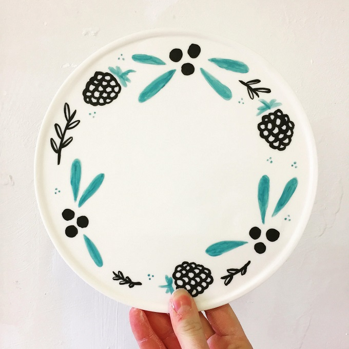 Winterberry Plate - Studio Natalie J. Wood