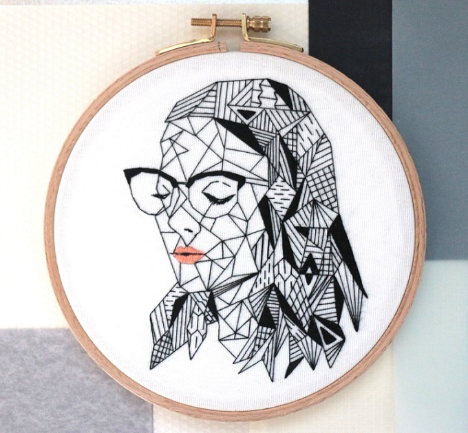 Woman in Black Embroidery - Molii Creative