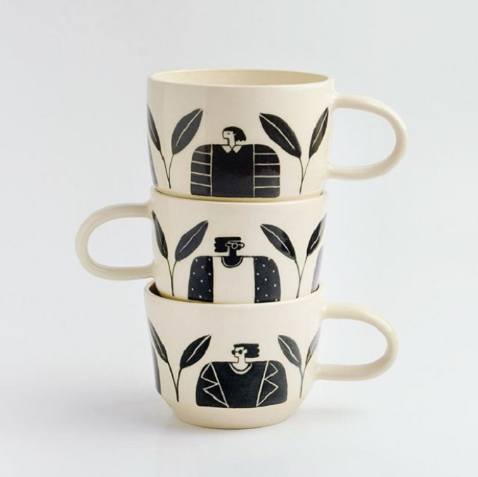 Women and Leaves Mugs - Miri Orenstein