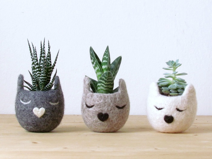 Succulent planter / The Yarn Kitchen