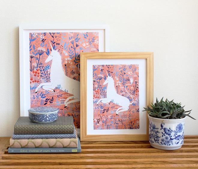 Unicorn Art Print / Yelena Bryksenkova