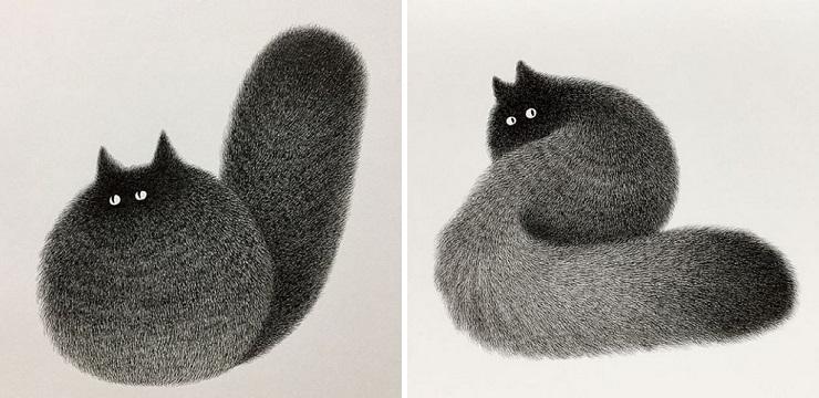 Cat Illustrations By Kamwei Fong