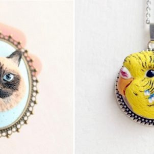 Custom Portraits on Pendants by Nico Made Me