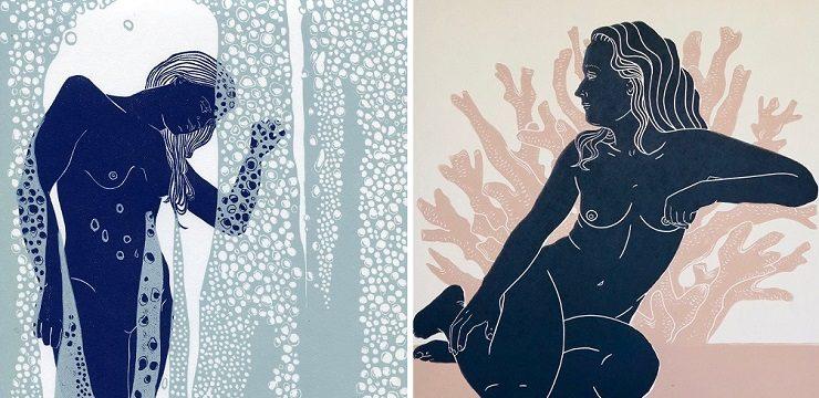 Linoprint Illustration by Ellen von Wiegand