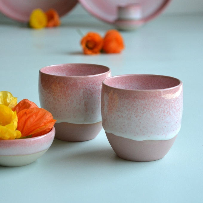 Pinkish Coffee Cups - Noot & Zo